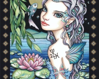 ZODIAC inspired coloring / colouring book for adults and children Astro-INKLINGS featuring astrological sign illustrations by art Tanya Bond