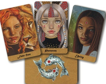 Duality Deck - artist oracle deck and booklet with card meanings, illustrated and written by Tanya Bond