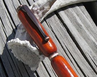 Padauk Wood and Antique Copper Retractable Twist Pen