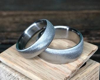 Titanium Rings, Wedding Rings, Wedding Band Set, His and Hers Rings, Engagement Rings, Handmade Ring, Custom Made Ring, Engraved Ring