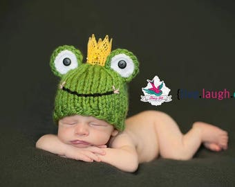 bdb7310e8bc Frog Prince Hat - newborn baby boy fairy tale infant photography prop