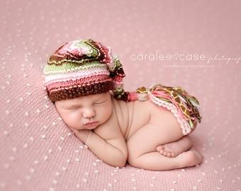 Wild Child - Newborn Bumpy Tassel Cap
