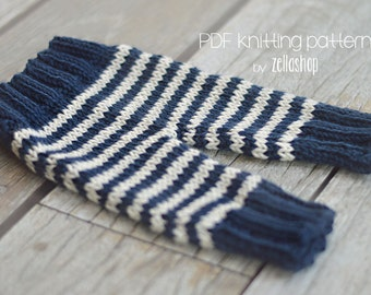 Knitting Pattern Cozy Baby Newborn Pants photography prop instant download baby knitting patterns