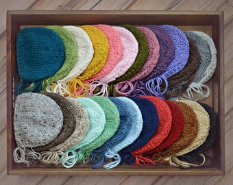 Classic Bonnet ANY Color - newborn baby hat photography prop knit