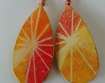 Paper Citrus Earrings