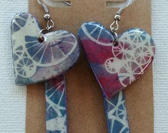 Hearts and Bars Earrings