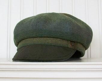 2ec96b67a3ac1 Green newsboy hat
