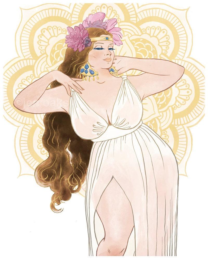 curvy pinup 8x10 art print / fat bbw body positive | etsy