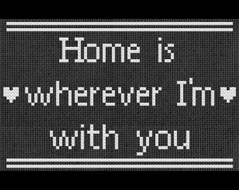Home is Wherever I'm with You Cross Stitch PDF Pattern