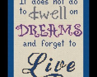 Dwell on Dreams Cross Stitch PDF Pattern
