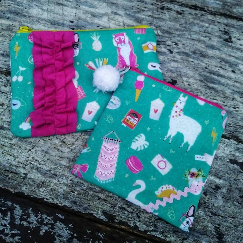 All the good things zipper pouch. Unicorns rainbows llamas image 0