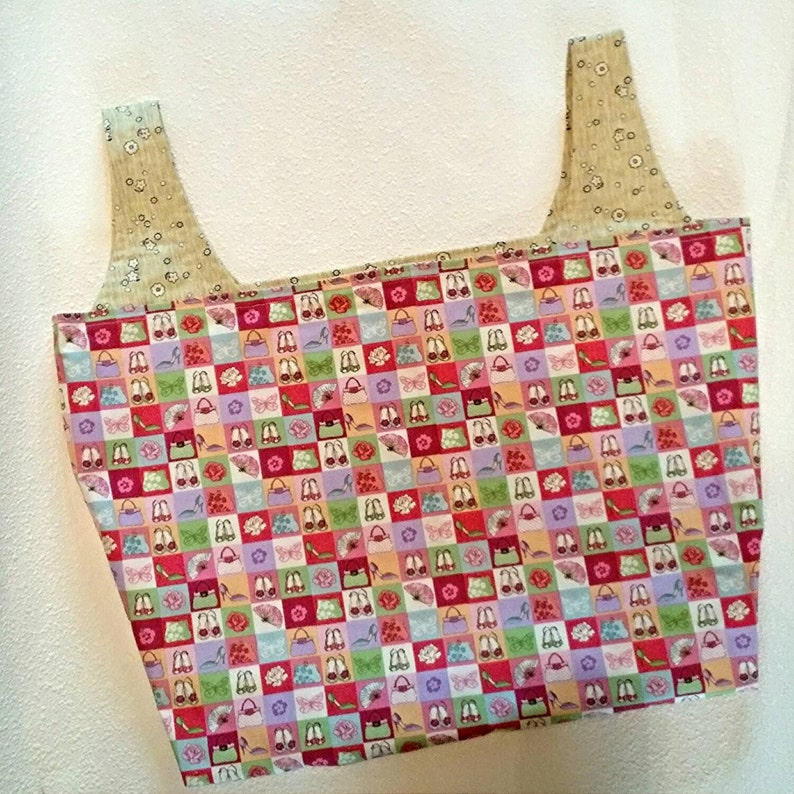 Shoes and Purses Reusable Fabric Shopping Bag image 0