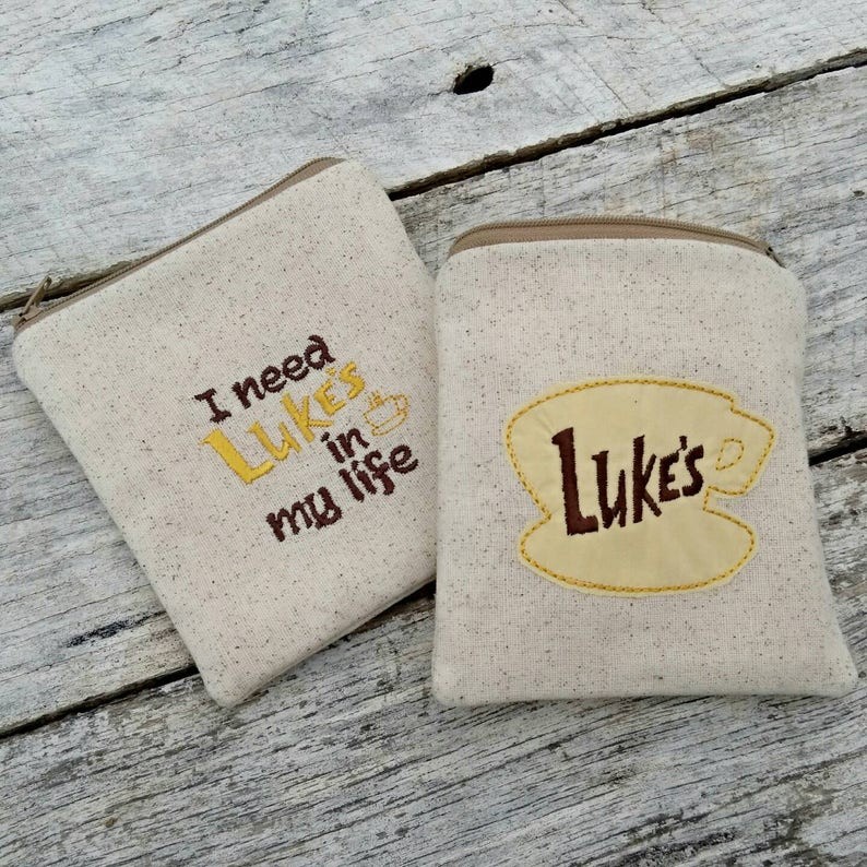 Gilmore girls pouches. Luke's coffee shop logo. I need image 0
