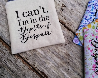 Depths of Despair pouch. Anne of Green Gables. Anne with an E. Prince Edward Island. Kindred Spirits. Gift idea. LM Montgomery. Anne Shirley