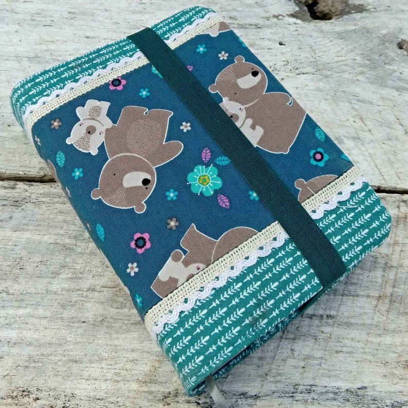 NWT Cute prints reversible fabric Bible cover Mama bear and image 0