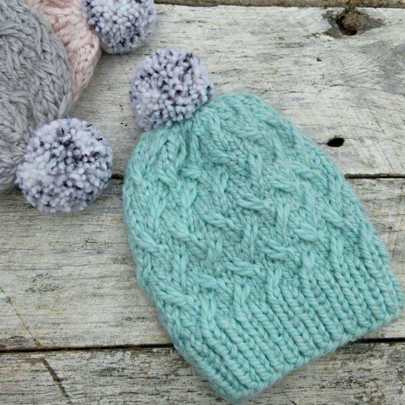 Squishy alpaca knit hat. Laurel beanie. Soft ice blue luxe image 0
