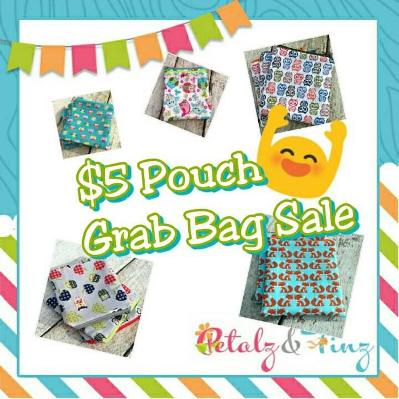 Sale zipper pouch random selection surprise pouch. Grab Bag image 0