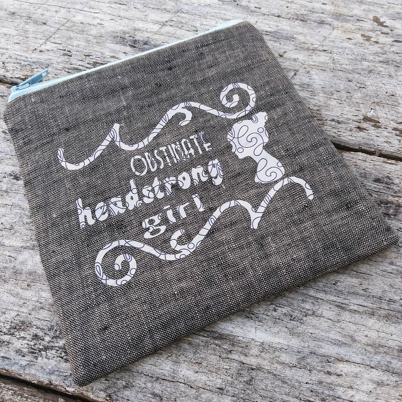 Obstinate headstrong girl zipper pouch. Jane Austen Pride and image 0