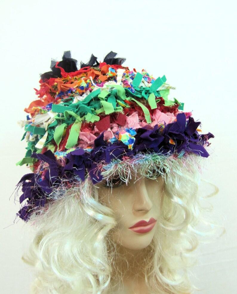 2cd2b4439a54b Rag hat crochet hat crazy hat hats for women weird hat