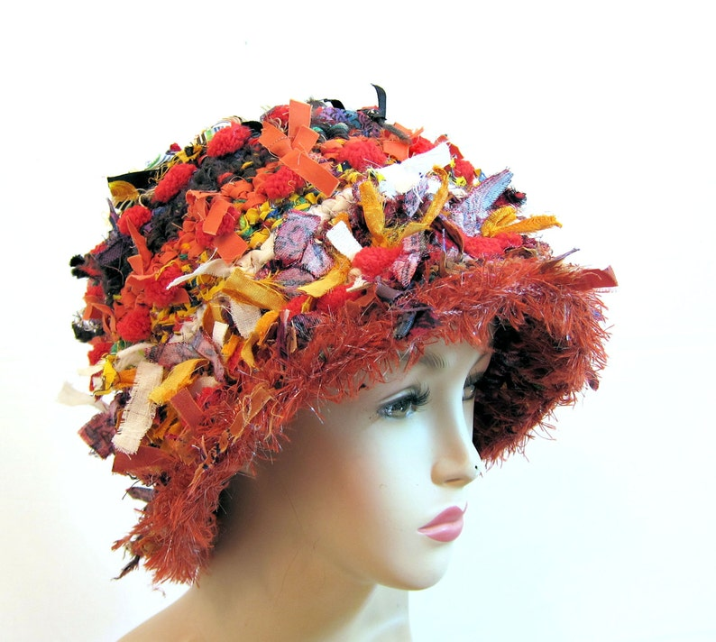 50d2a63d7c6bf Unique crocheted hat womens hat fun hat funky hat cool