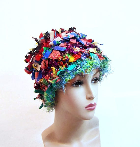 Crazy Crochet Hat: Crazy Boho Hat Crochet Hats For Women Funky Winter Hat Rag