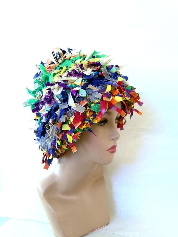 Cloche Hut Lappen häkeln verrückter Hut Boho Hut Spaß-Hut | Etsy
