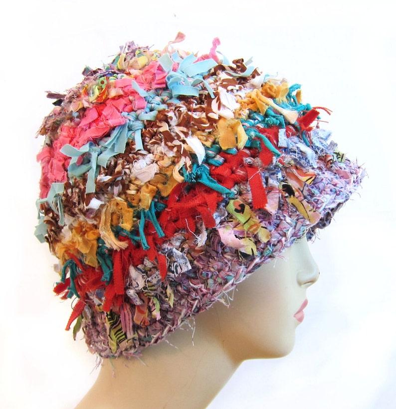 984da149e1e55 Crochet hat for women fun boho hat funky cool crazy hat hippie