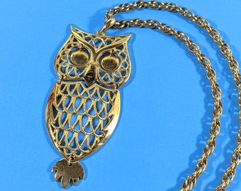 Stocking Gift//Present For Her Womens Owl Necklace Retro Gypsy Style Fashion