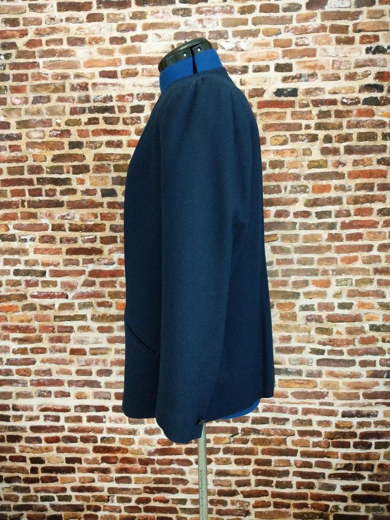 80/'s Pendleton Blazer Blue Wool Simple Women/'s Jacket Size 16 XL