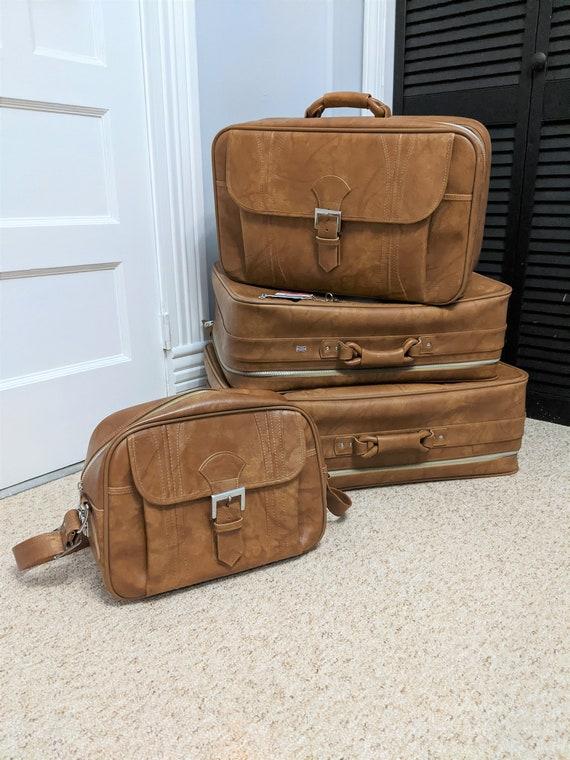 Vintage 4 Piece Luggage Set American Tourister Loc