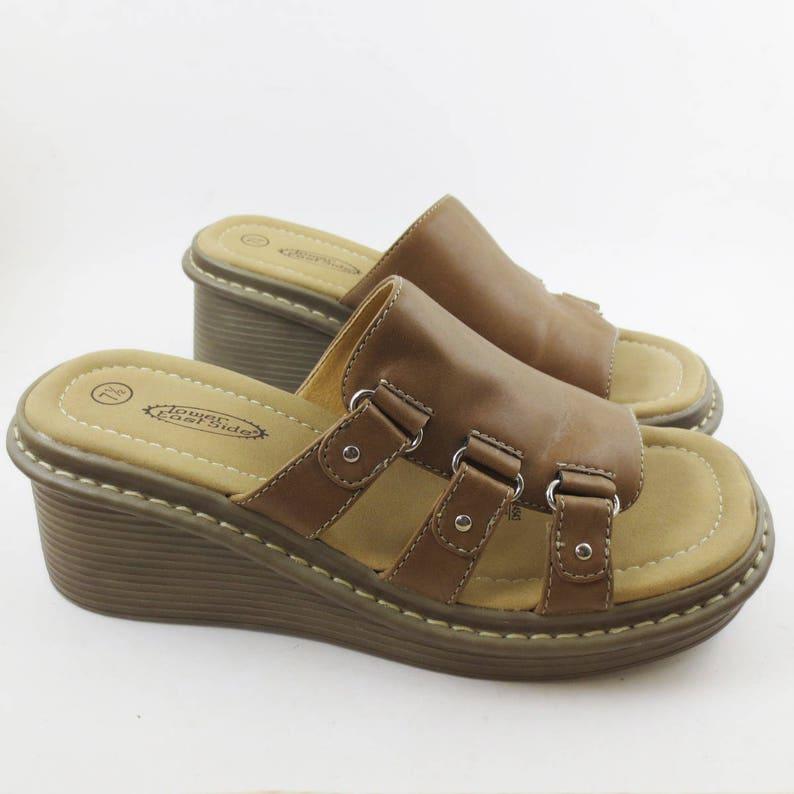 917082f9ddf2 Vintage 90 s Platform Sandals Womens Size 7.5 M Lower East