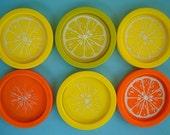 vintage citrus slice coasters