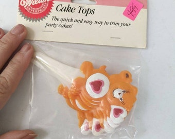 Vintage Care Bear cupcake picks
