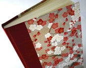 Handbound Unlined Journal - cerise plum blossom branch