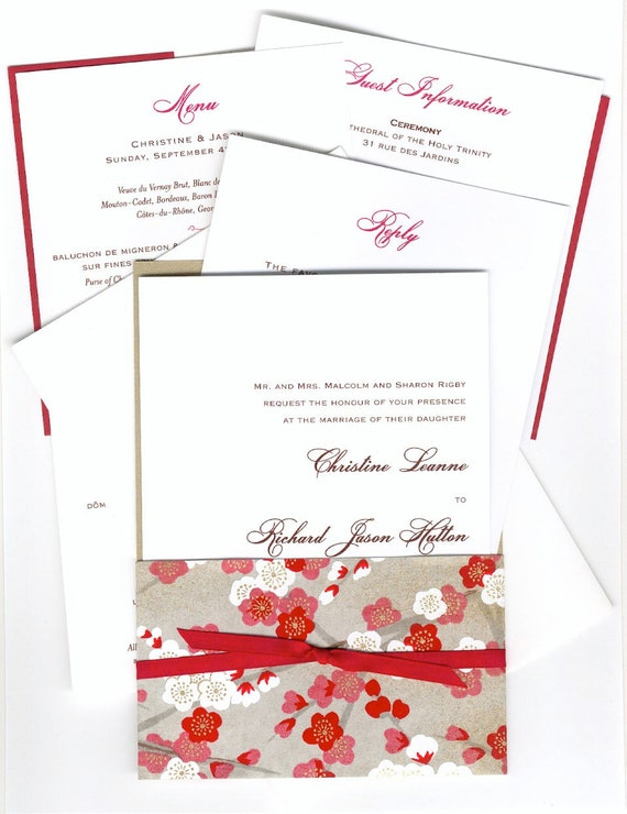 red 5 letter-sized sheets Paper Source text weight solid paper