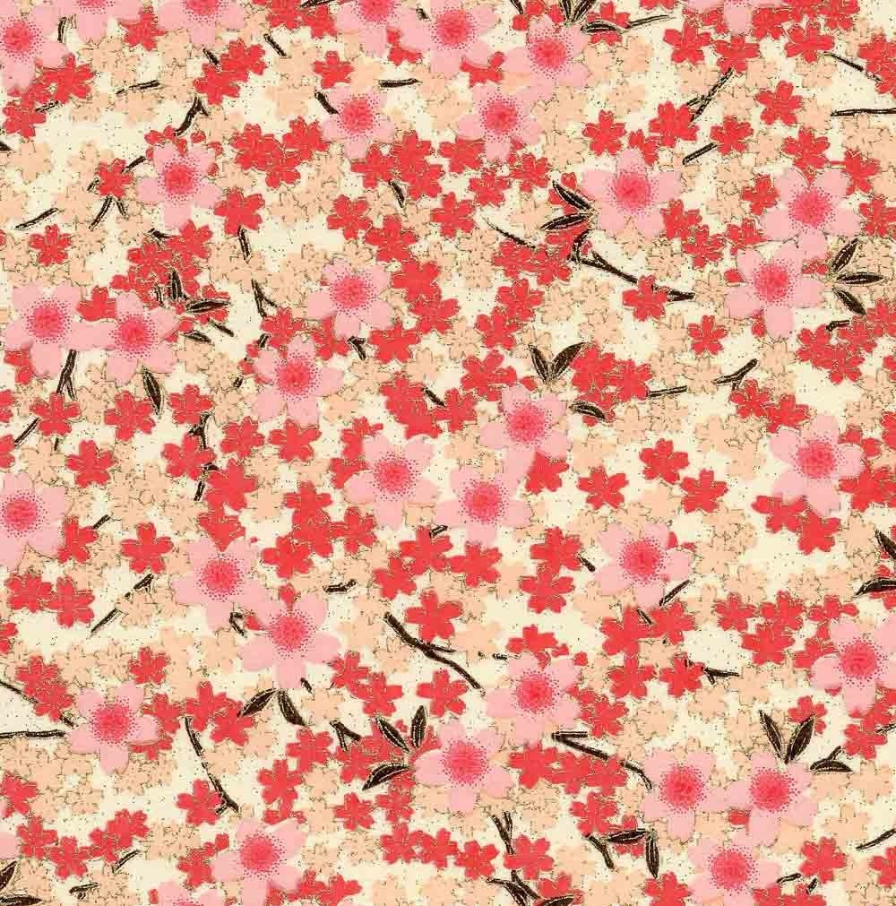 Chiyogami or yuzen paper full bloom cherry blossoms pink ... - photo#29