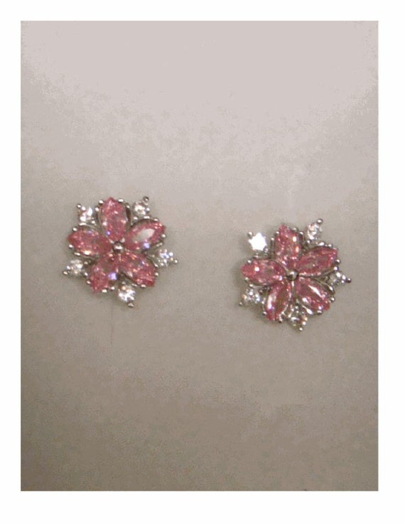 14K Rose Gold Plated CZ Stud Earrings Clear Emerald CZ Stud Ear Stud 4mm To 8mm