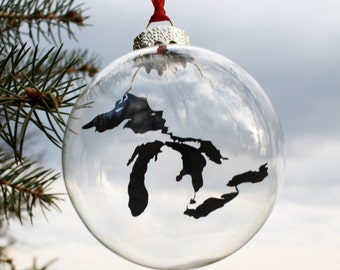 Great Lakes Glass Ornament