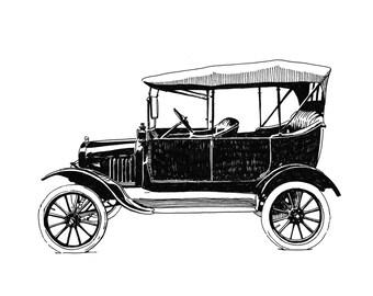 Model T, Detroit Giclee Print 8x10