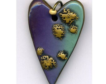 Pendant of polymer clay heart unmounted pendant Polymer clay pendant