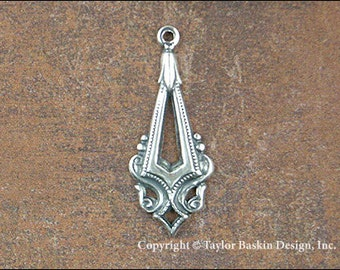 item 2503 AS Antiqued Sterling Silver Plated Victorian Components 6 Pieces