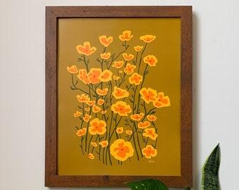 Poppies-11 x 14 print