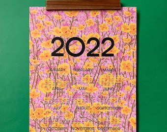 2022 wall calendar-13 x 19 poster-Grandma's Bedspread