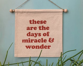 Miracle and Wonder Small Banner