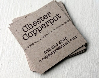 Simple Typewriter Calling cards on Kraft
