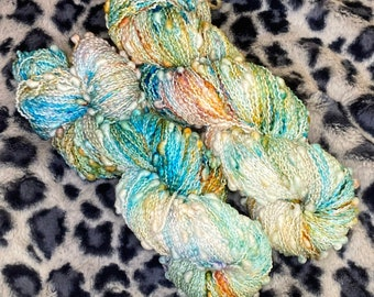Hand Dyed Yarn |  Sock Yarn | Slub Yarn | Superwash Yarn | OOAK| Fingering weight yarn | Merino Wool Yarn | Nylon Yarn