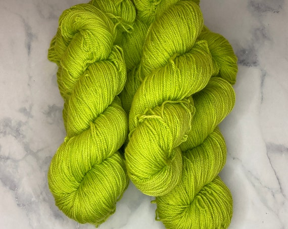 Hand Dyed Yarn | Sock Yarn | Green Tea Ice Cream | Superwash Yarn | Semisolid Yarn | Merino Wool | Nylon | Green Yarn