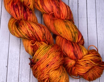 Hand Dyed Yarn | Speckled Yarn | Halloween Yarn | The Simpsons Treehouse of Horror Yarn Collection | The Bart Zone | Sock Yarn.