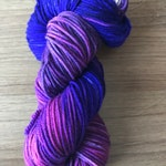 Milky Way merino/nylon indie dyed, hand dyed  DK weight yarn on Misfit DK! ~~