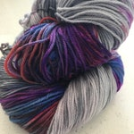 Indie-dyed, hand dyed one of a kind sock yarn ~ fingering weight